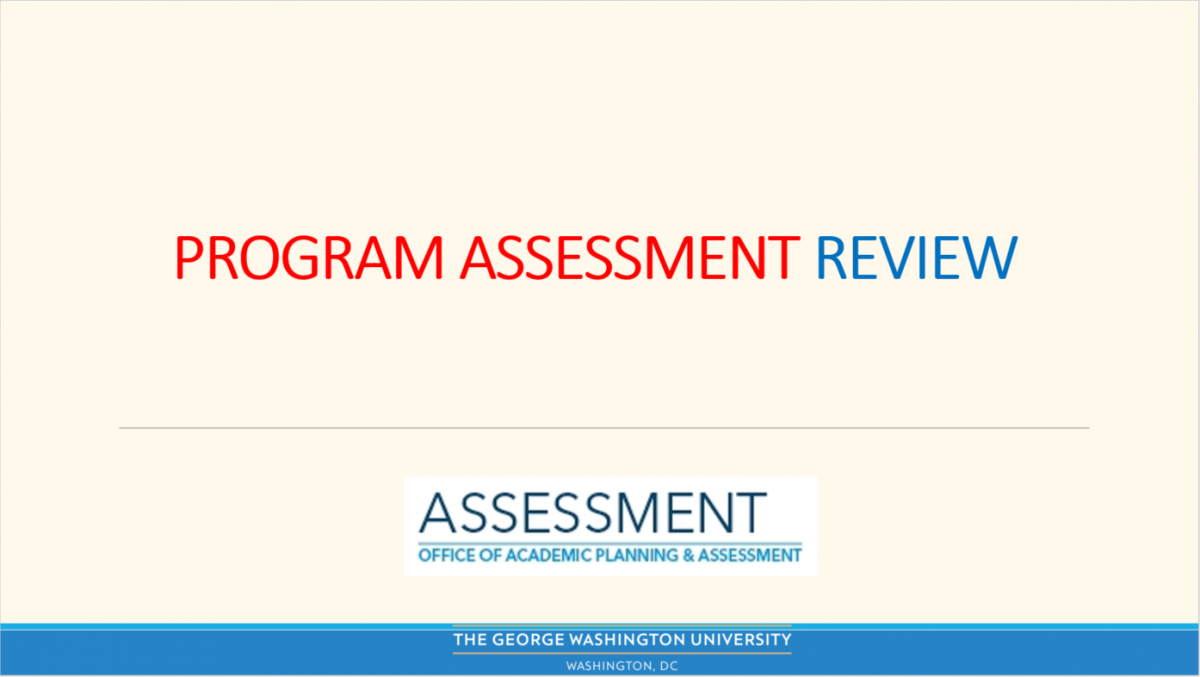 Program Assessment Review Video